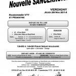 Affiche Nouvelle Sancerroise 29 mai 2014