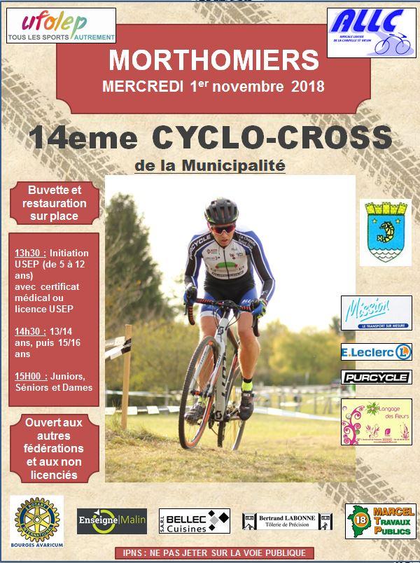 Affiche CX Morthomiers 2018