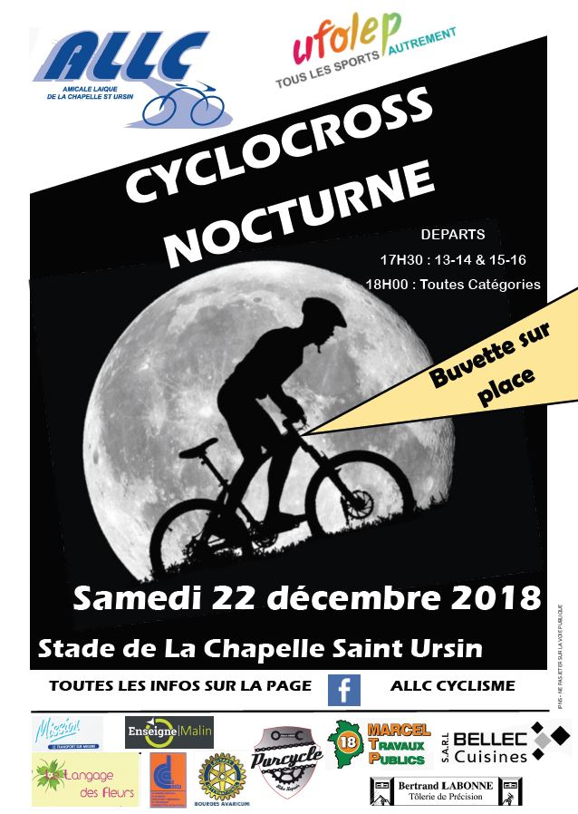 Affiche CX PN UFOLEP 2018