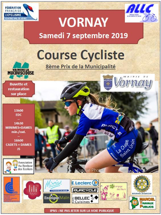 Affiche route Vornay 2019